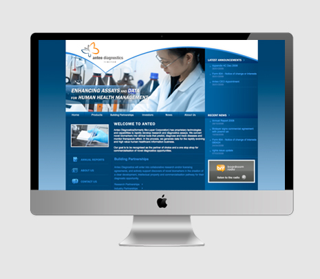Anteo Diagnostic Limited website