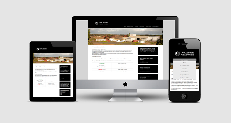 Valence Responsive Website